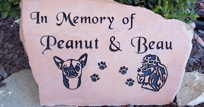Pet memorial headstones. Source: image from naturalrockdesigns.com